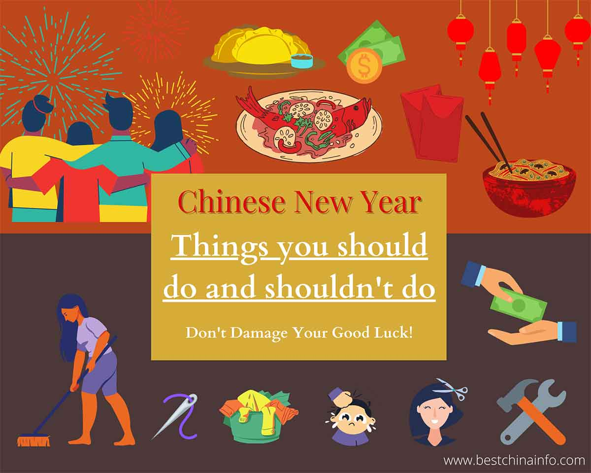 Celebrate Chinese new year things to do and not