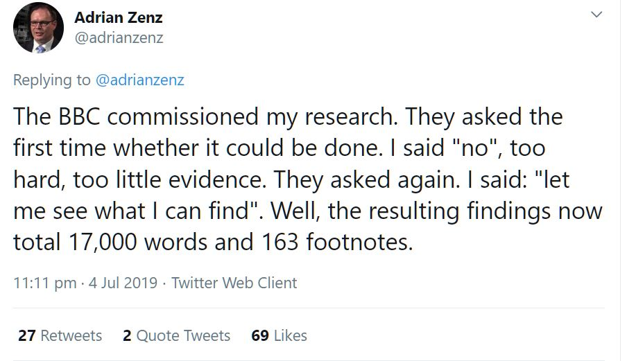 The BBC commissioned my research. They asked whether it could be done. I said no, too hard, too little evidence They asked again. I said, 'I'll see what I can find'.