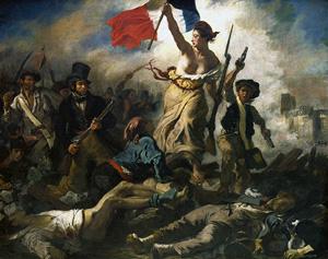 La Liberte leading the people by Delacroix